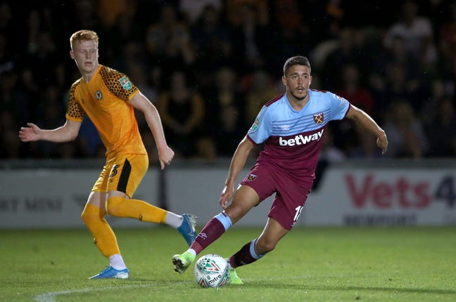 West Ham knocked out Newport on Tuesday