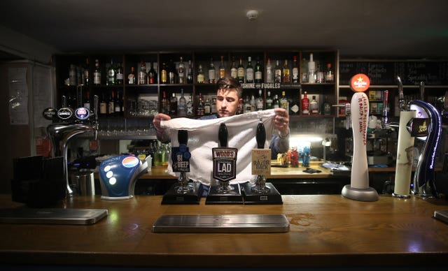 Some experts have said pubs and restaurants should stay shut until May (Nick Potts/PA)