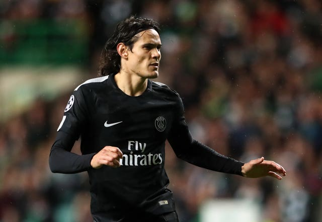 Paris Saint Germain's Edinson Cavani