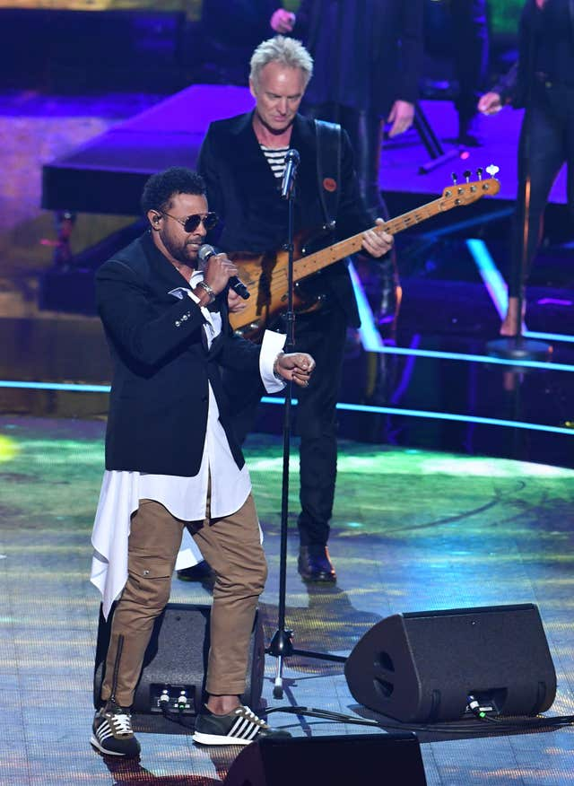 Sting collaborated with Shaggy for a duet (John Stillwell/PA)