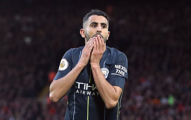 Mahrez is determined not to let the miss affect him