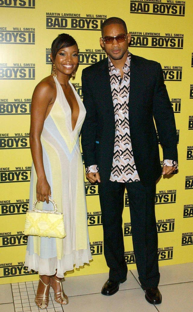 Gabrielle Union and Will Smith at the premiere of Bad Boys II in London in 2003.