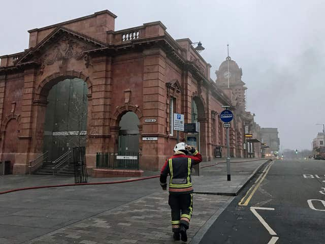 Nottingham railway station fire