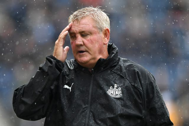 Steve Bruce saw Newcastle beaten by Preston in his first game in the dugout