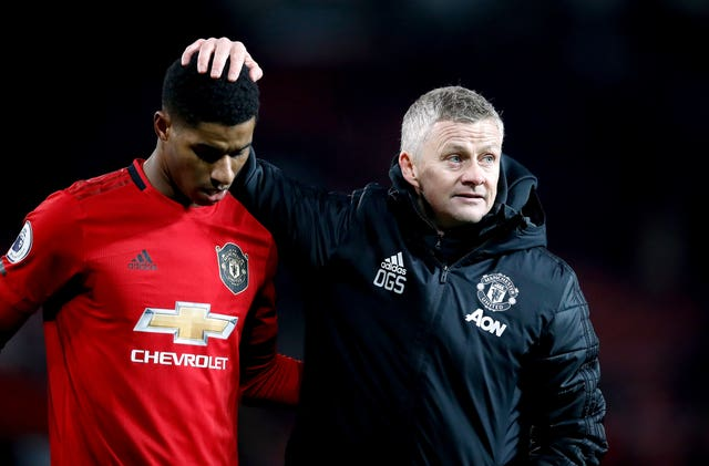Ole Gunnar Solskjaer, right, is planning for the future at Old Trafford