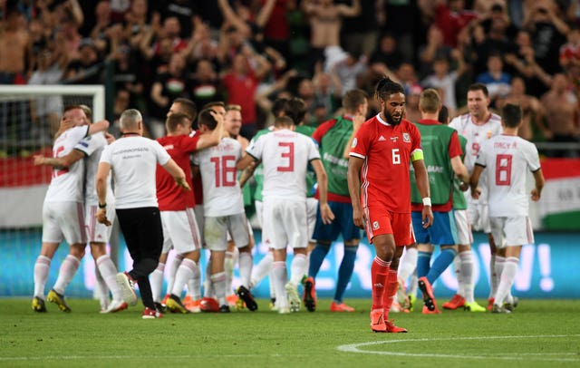 Hungary celebrate their late victory