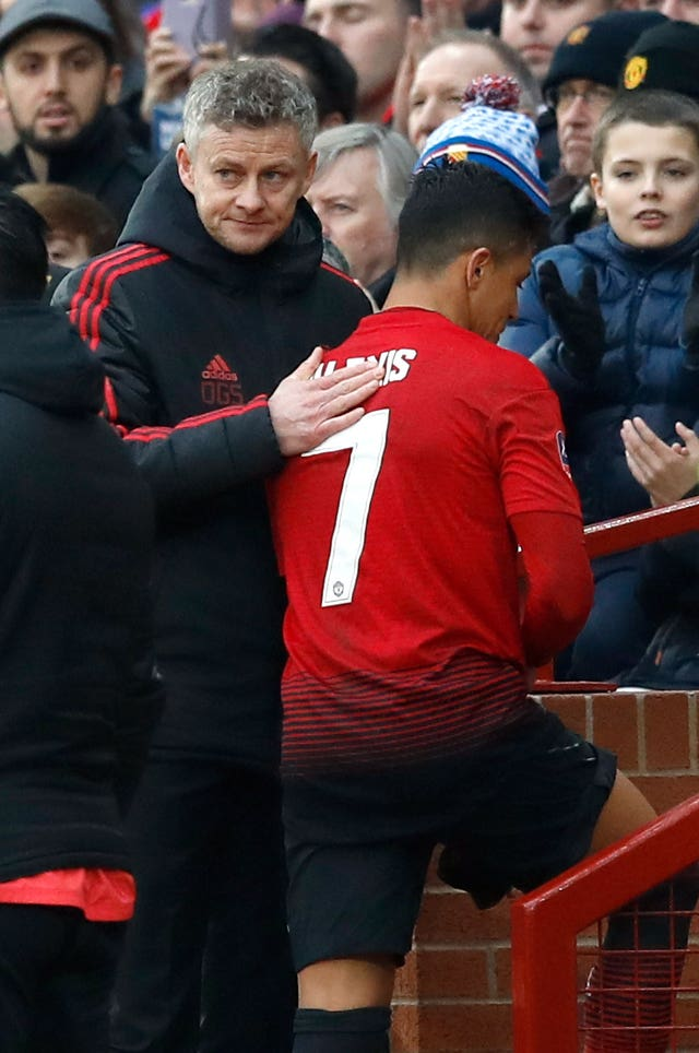 Sanchez (right) failed to find a role under manager Ole Gunnar Solskjaer