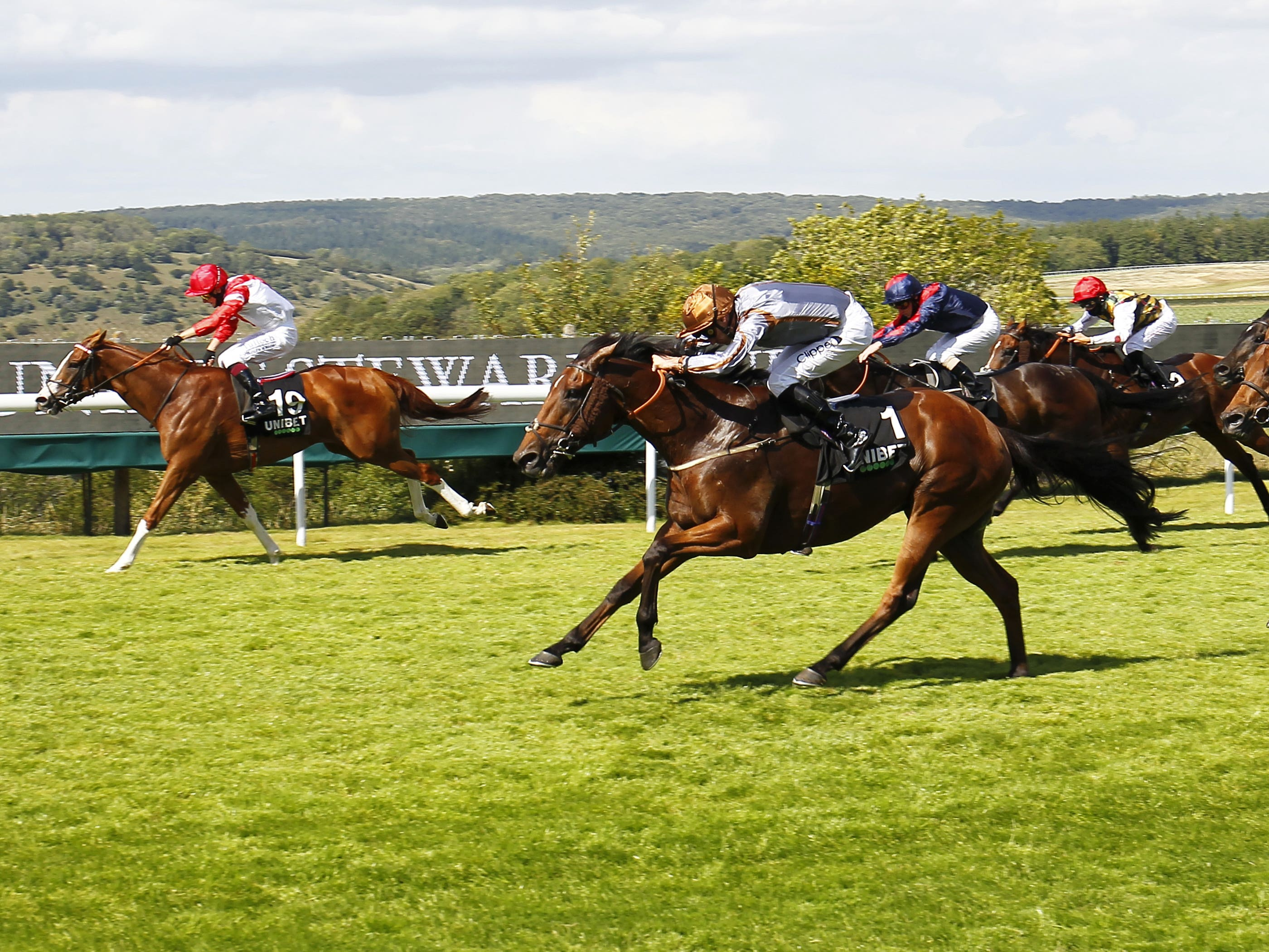 Summerghand (centre) would have to give weight all round in the QTS Ayr Gold Cup (Steve Davies/PA)