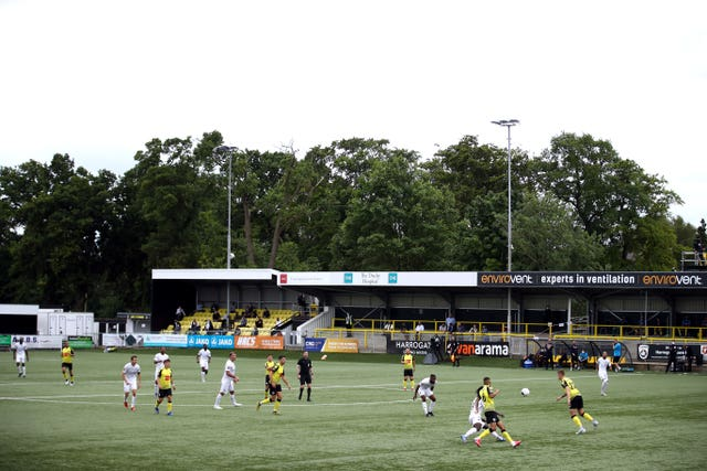 Harrogate must replace their 3G pitch at the CNG Stadium