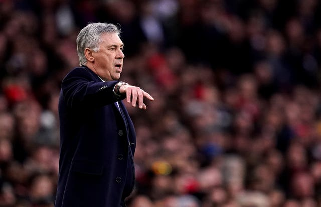 Carlo Ancelotti's Everton face his old club Chelsea away this weekend (John Walton/PA).
