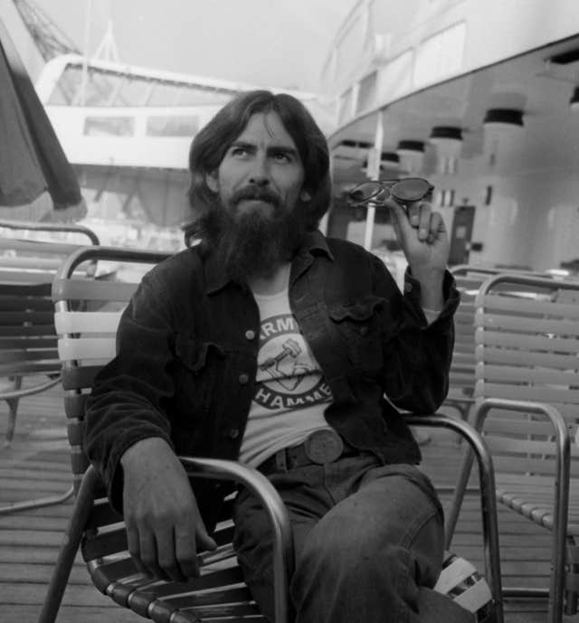 George Harrison on board the QE2 in 1971