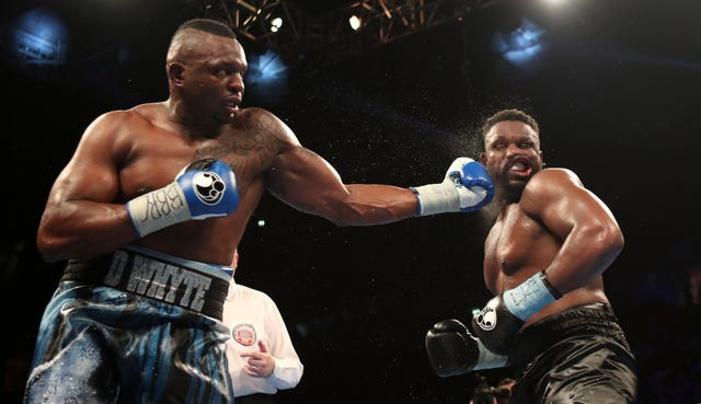 Dillian Whyte (left) in action against Dereck Chisora. (Peter Byrne/PA Images)