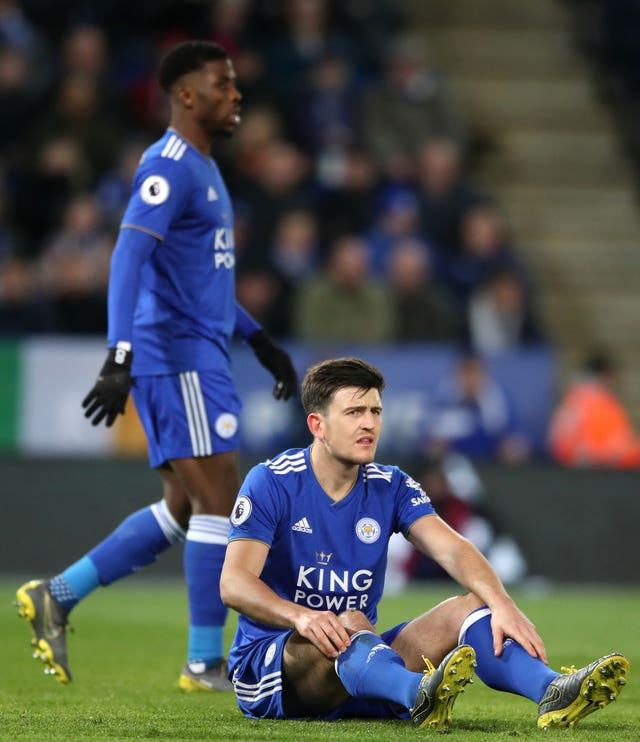 It was a first defeat in five for Harry Maguire and Leicester