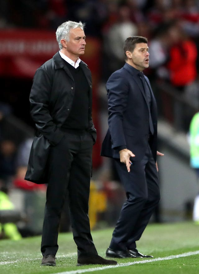 Jose Mourinho, left, and Mauricio Pochettino