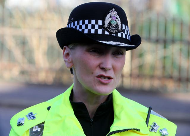Assistant Chief Constable Gillian MacDonald from Police Scotland said there is no hiding place for offenders (Andrew Milligan/PA)