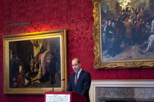 The Duke of Cambridge makes a speech during the meeting of the United for Wildlife Taskforces at St James's Palace, London