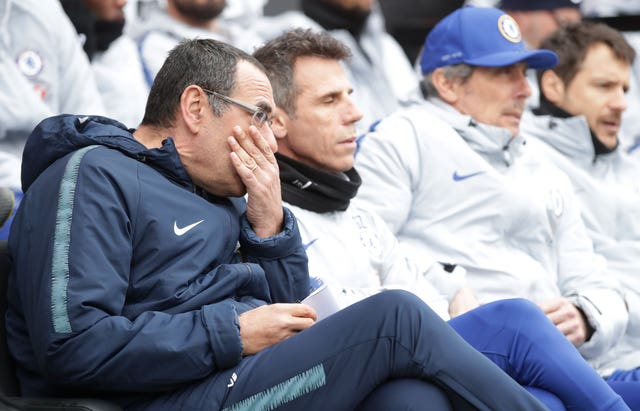 Zola (second left) says Chelsea will complain to the FA