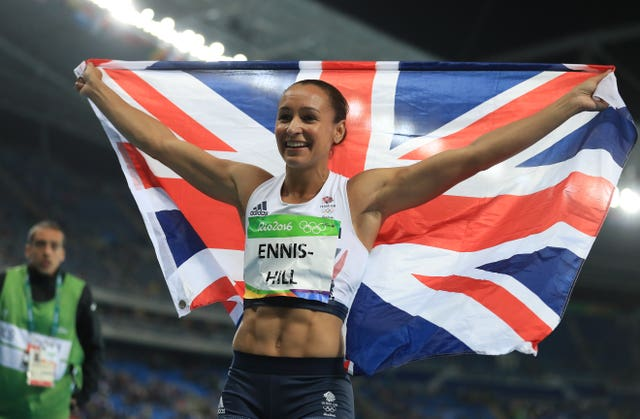 Great Britain's Jessica Ennis-Hill won silver at the Rio Olympics in 2016