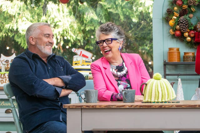 Prue Leith and Paul Hollywood on Bake Off