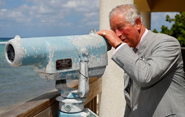The Prince of Wales during his visit to Little Cayman