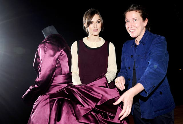 Keira Knightley at the Hollywood Costume exhibition at the V&A
