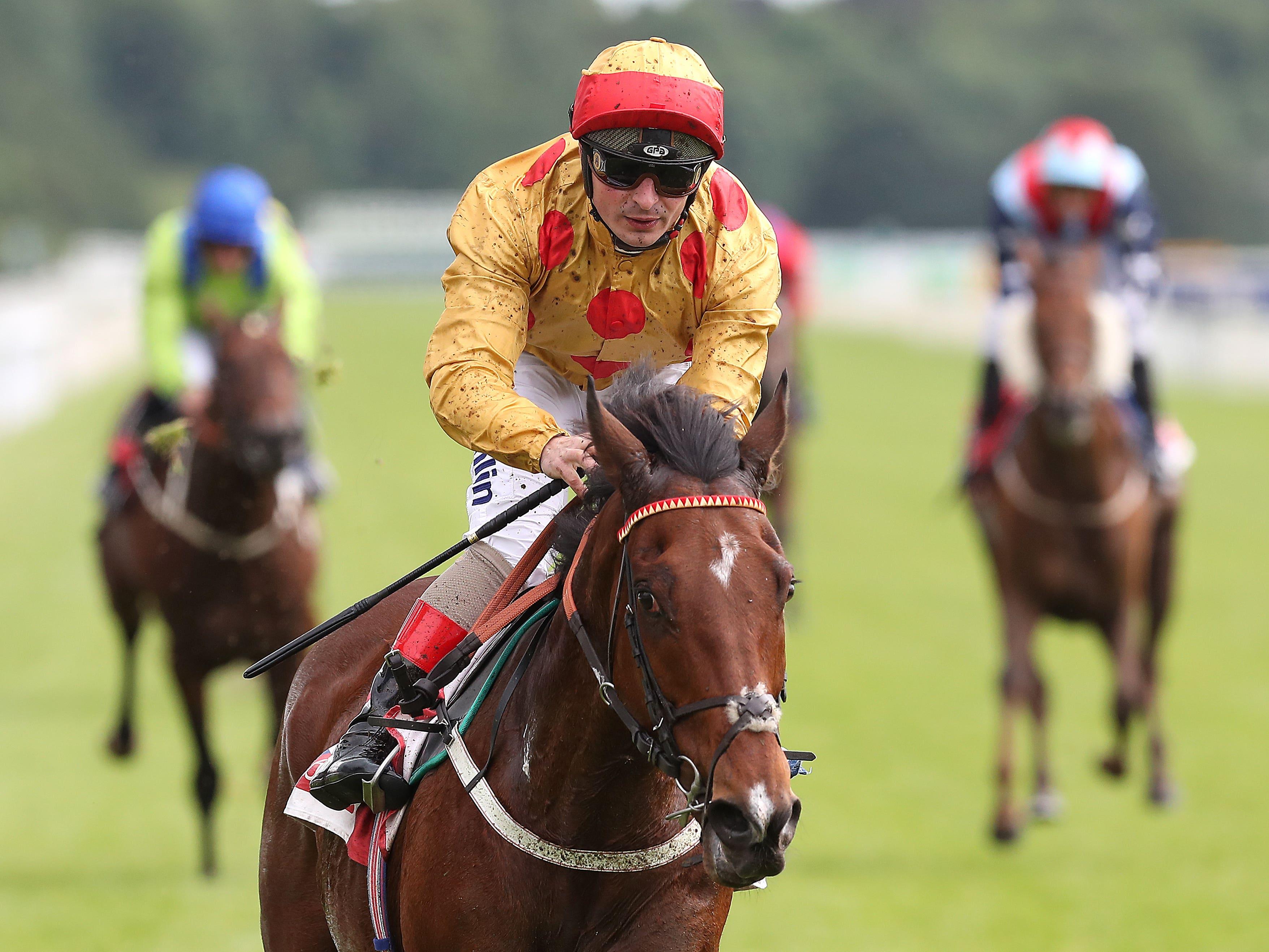 Gold Mount runs out a ready winner at York (Martin Rickett/PA)