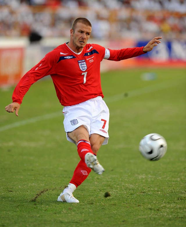 England's David Beckham missed the 2010 World Cup finals through injury