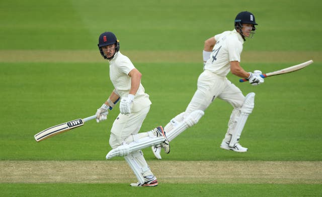 Bracey (left) on his way to 85 in England's intra-squad warm-up in Southampton.