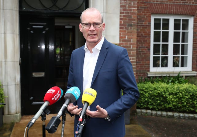 Simon Coveney contended that EU fishery grounds and the Common Fishery Policy applies to the area (Niall Carson/PA)