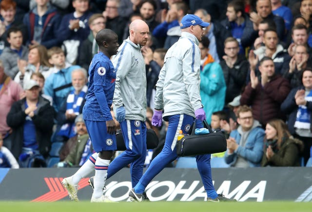 N'Golo Kante was forced off through injury