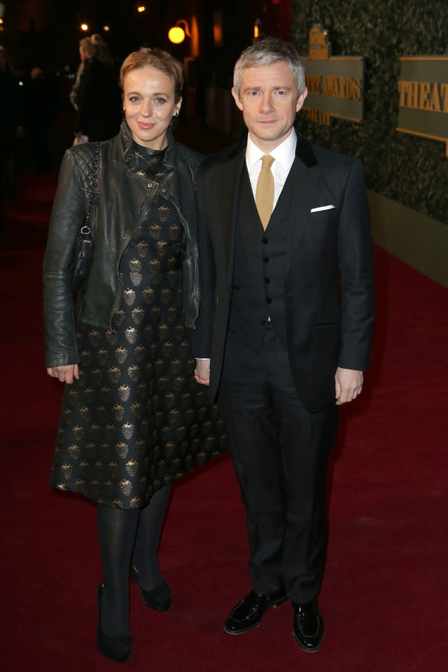 Ex-partners Amanda Abbington and Martin Freeman