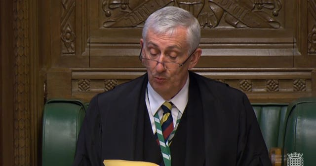 Commons Speaker Sir Lindsay Hoyle