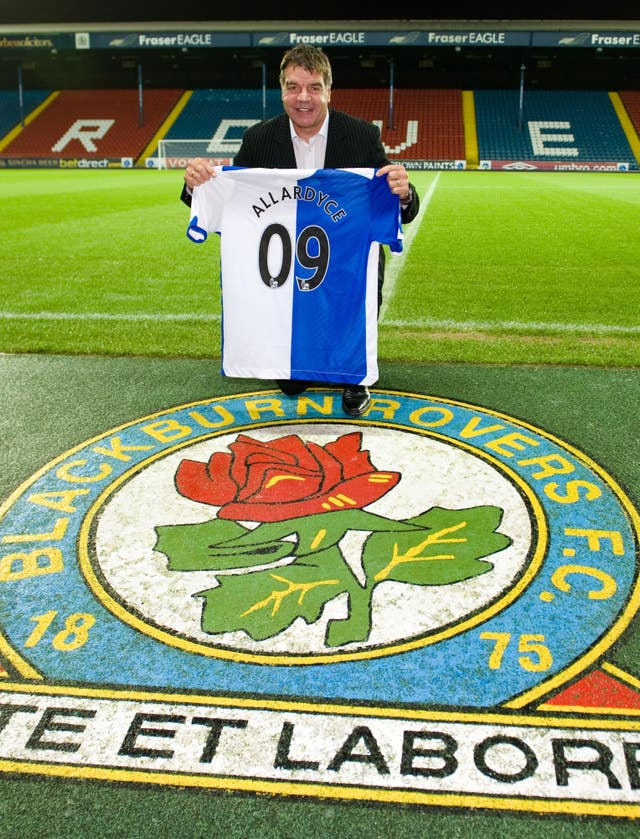 Allardyce spent two years as Blackburn before the club's new owners the Venky's brought .his reign to an end