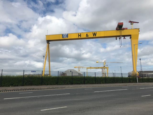 Protest at Belfast shipyard