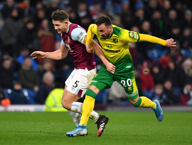 James Tarkowski came to Burnley's rescue on a couple of occasions in the first half