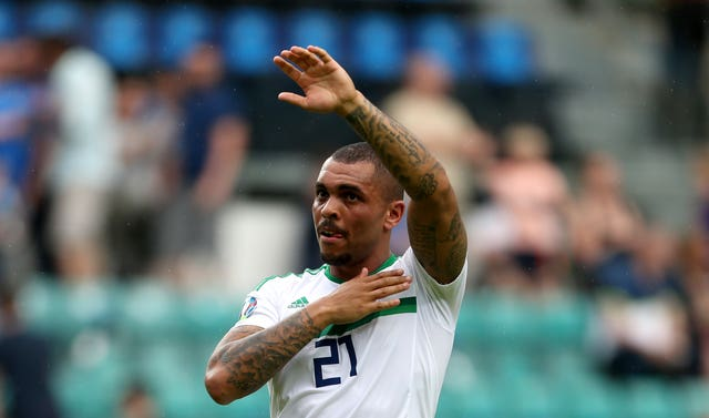 Josh Magennis started on the bench in Estonia