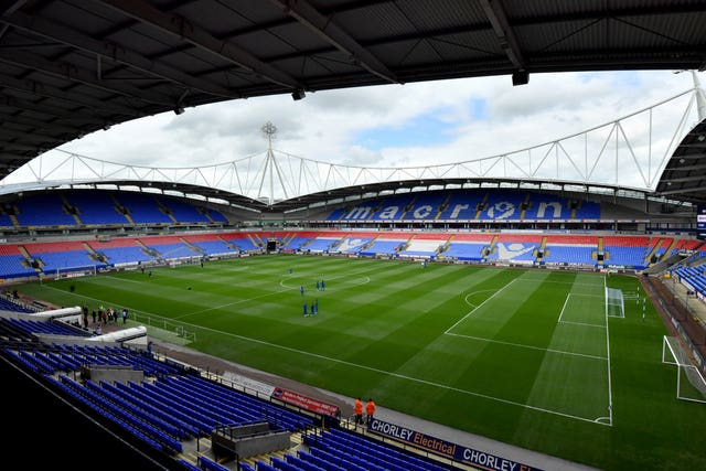 The University of Bolton Stadium will be empty for two matches