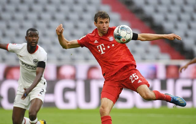 Thomas Muller scored his side's second goal just before half-time