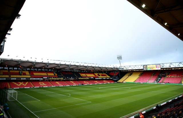 Vicarage Road will be empty as Watford host Leicester in their first game back.