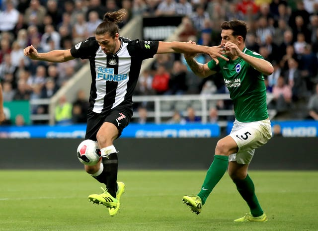 Andy Carroll came off the bench to make his second Newcastle debut