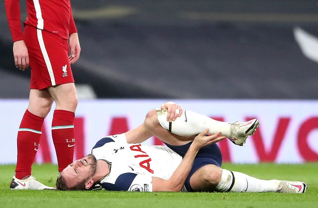 Harry Kane suffered injuries to both ankles in Tottenham's defeat to Liverpool