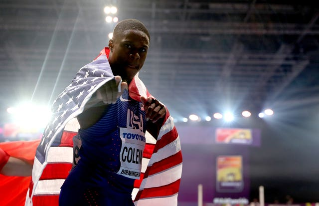 Christian Coleman won gold in the Men's 60m at the 2018 IAAF Indoor World Championships in Birmingham