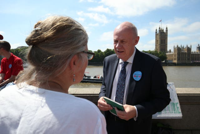 Damian Green spoke to his constituents on the Albert Embankment (Jonathan Brady/PA)