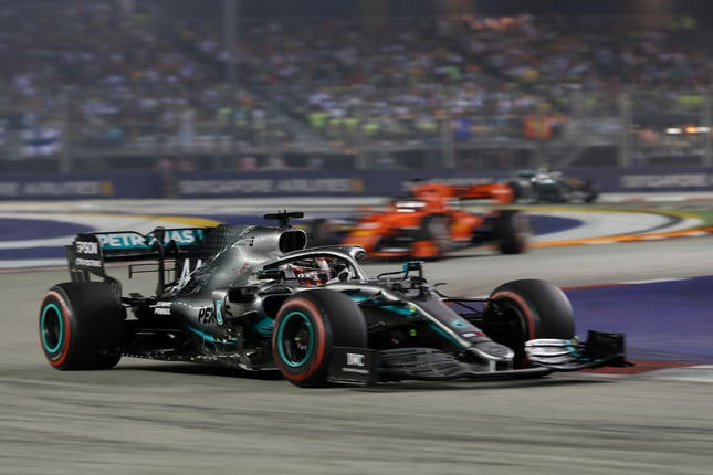Lewis Hamilton finished fourth in Singapore