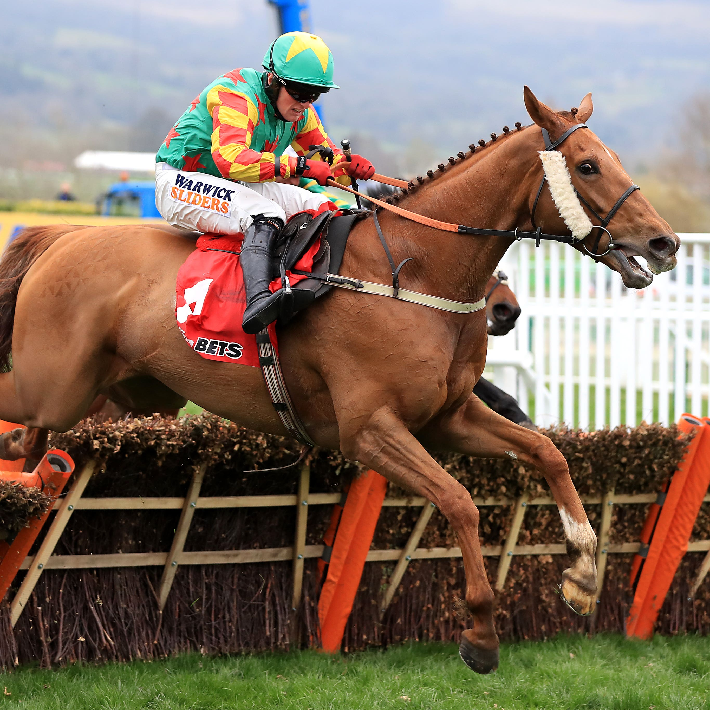 Lil Rockerfeller on his way to finishing second in the 2017 Stayers' Hurdle at Cheltenham