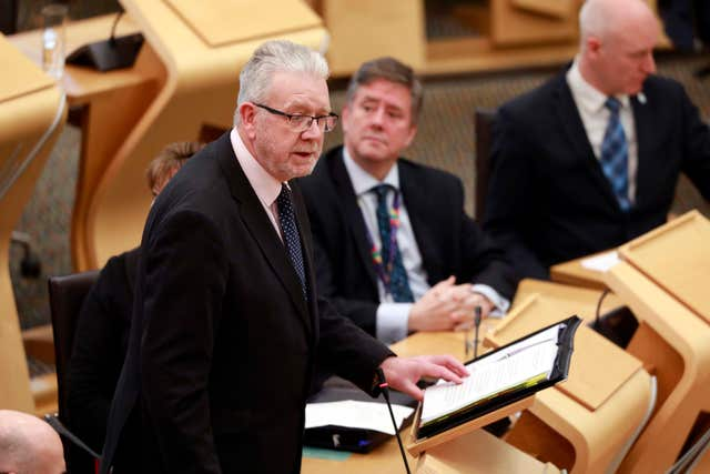 Scottish Brexit Minister Michael Russell called for the bill to be treated as emergency legislation (Andrew Cowan/Scottish Parliament/PA)