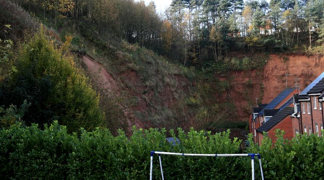 A mudslide which forced an evacuation in Mansfield