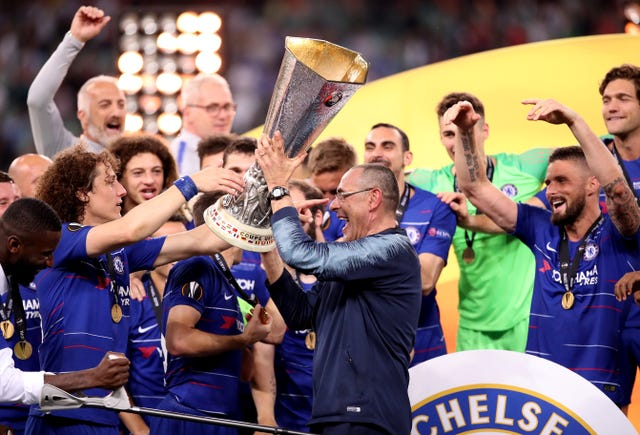 Sarri's final act at Chelsea was to guide them to Europa League victory