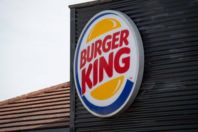 A sign for a Burger King restaurant