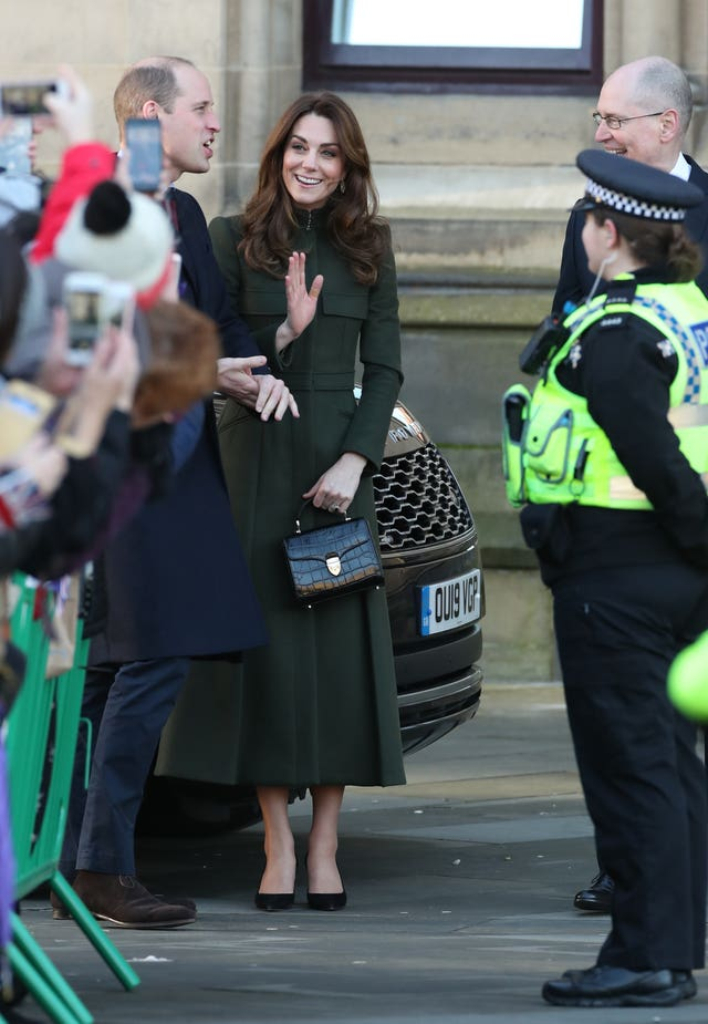 The Duke and Duchess of Cambridge in Bradford (Danny Lawson/PA)
